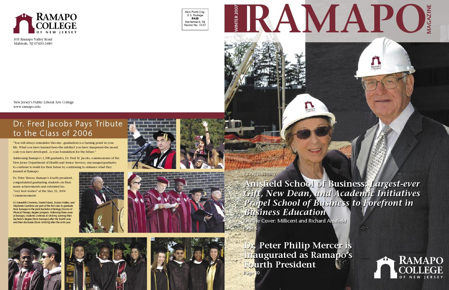 Ramapo College Magazine Winter 2007 by Ramapo College - issuu