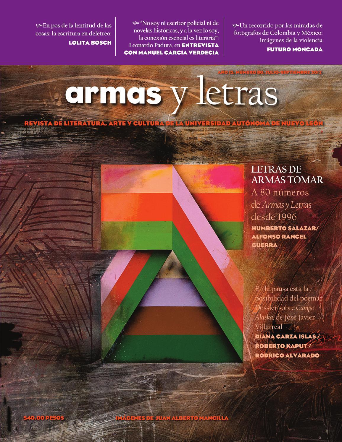 Armas y Letras 80 by Revista Armas y Letras - issuu