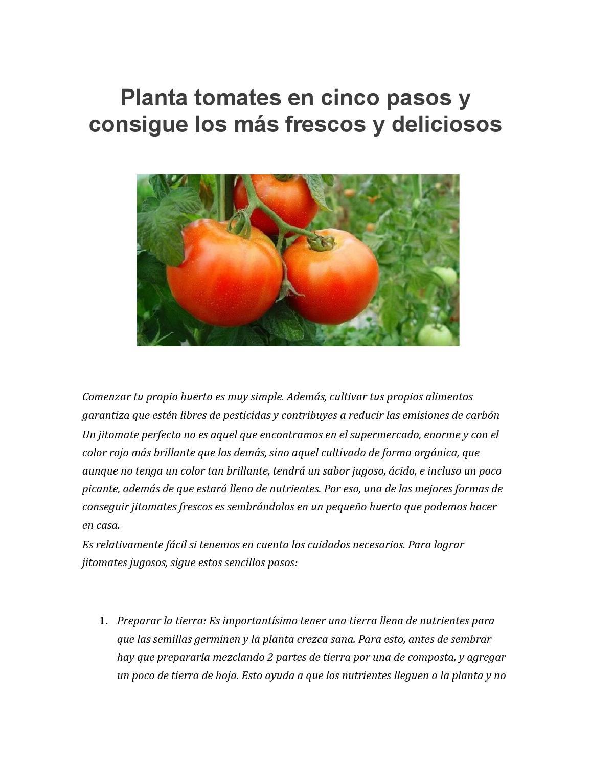 Los nutrientes del tomate