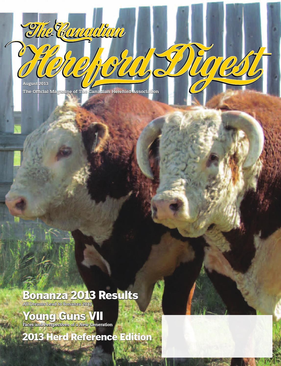 August 2013 Canadian Hereford Digest By Vo Axis Aigo 1 Gb Non Bonus Association Issuu