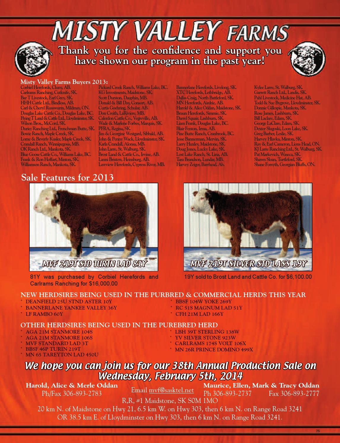 Aga Herd august 2013 canadian hereford digest by canadian hereford
