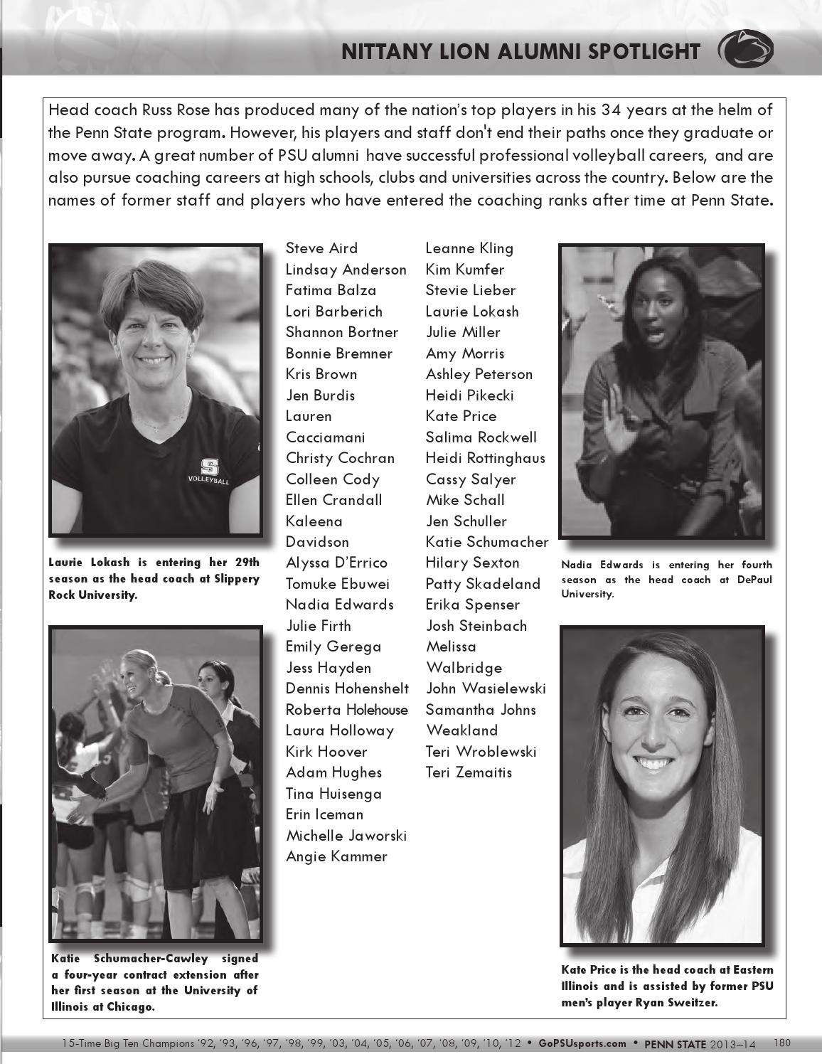 2013 Penn State Women S Volleyball Yearbook By Penn State