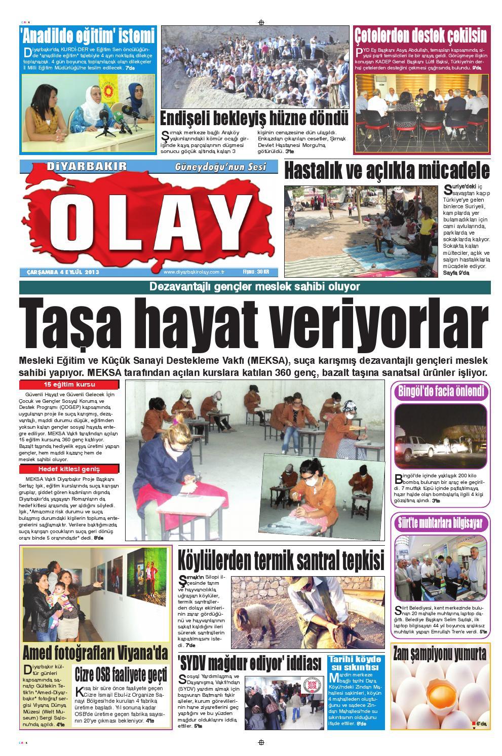 04 09 2013 Gazete Sayfalari By Diyarbakir Olaygazetesi Issuu