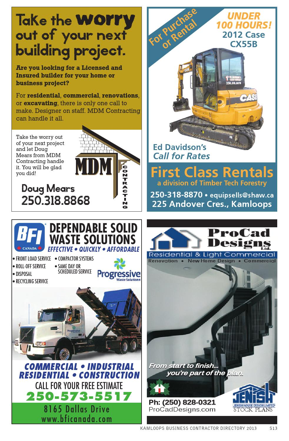 Contractor directory 2013 by Kamloops Daily News - issuu