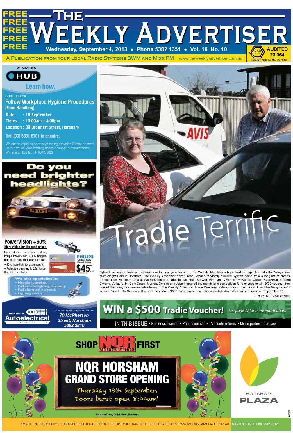 The Weekly Advertiser Wednesday September 4 2013 Edition