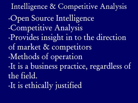 Page 24 of Market Intelligence & Competitive Analysis