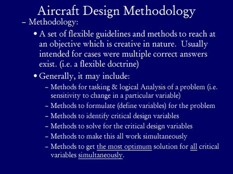 Page 3 of Aircraft Design Methodology