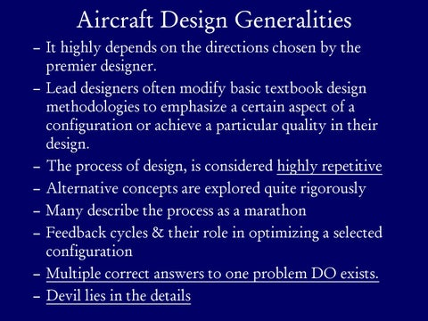 Page 4 of Aircraft Design Generalities