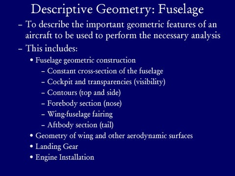 Page 9 of Descriptive Geometry: Fuselage