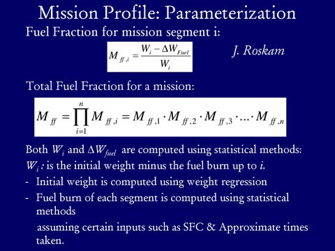 Page 10 of Mission Profile: Parameterization, Fuel Fractions