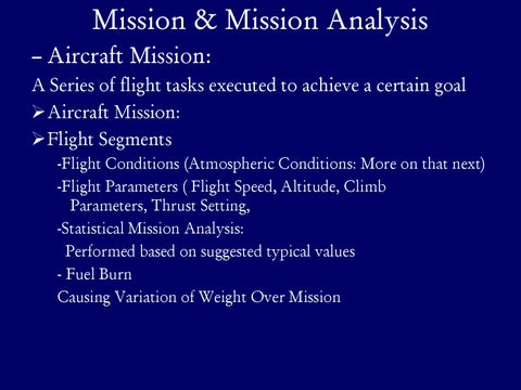Page 5 of Mission & Mission Analysis
