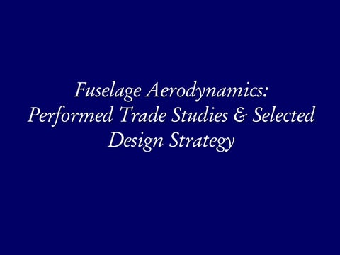 Page 18 of Fuselage Aerodynamics: Tradeoffs