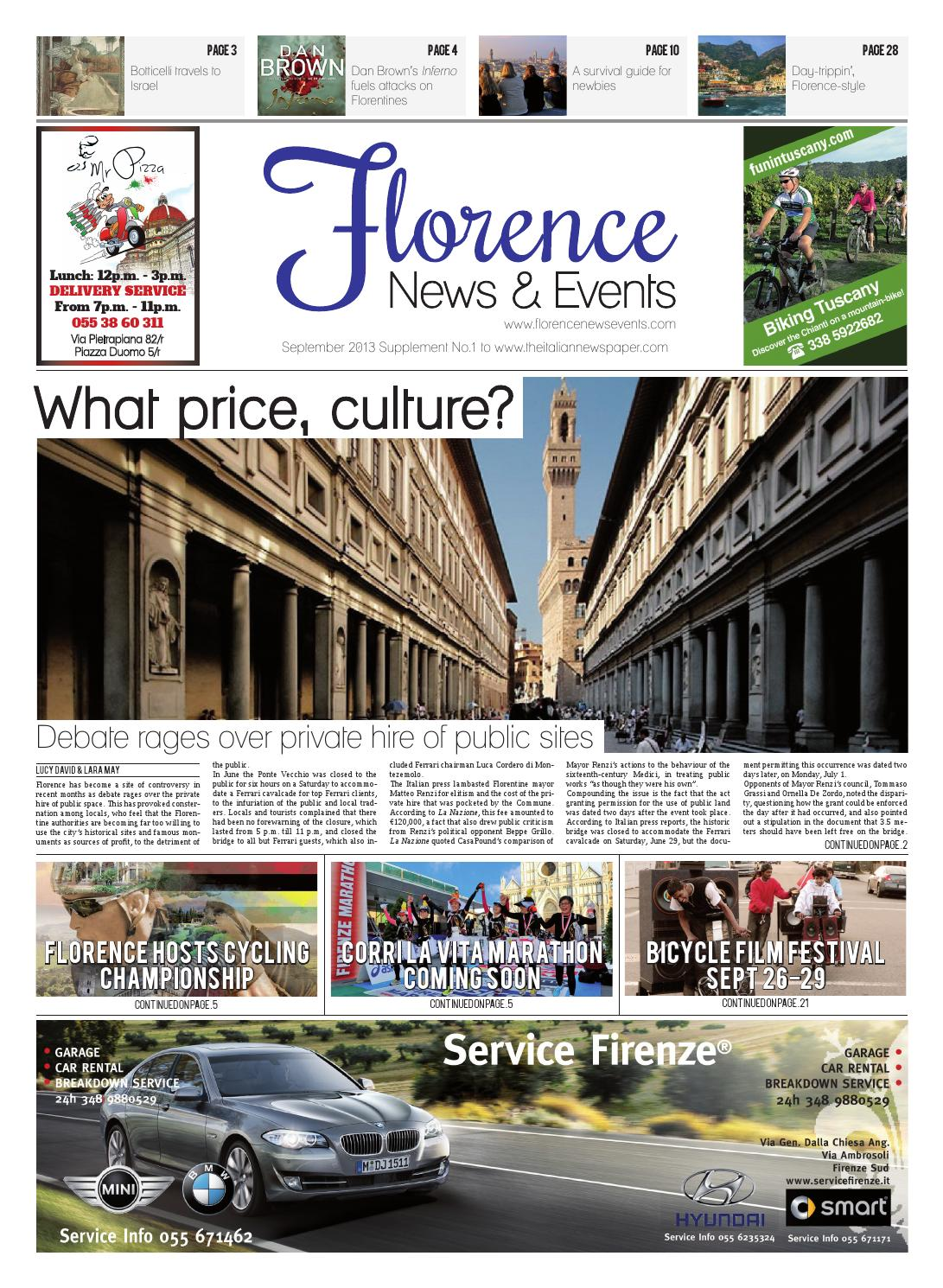Florence News & Events Sept 13 by FLORENCENEWSEVENTS - issuu