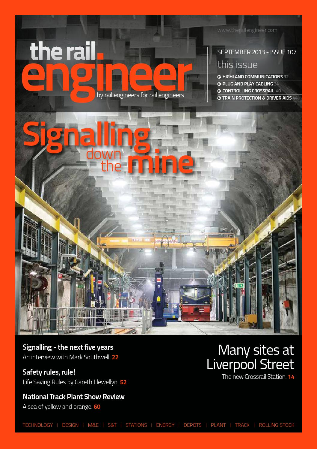 The Rail Engineer Issue 107 September 2013 By Media Issuu Testing Wire Harnesses Next Topic Previous Toc Complex Wiring