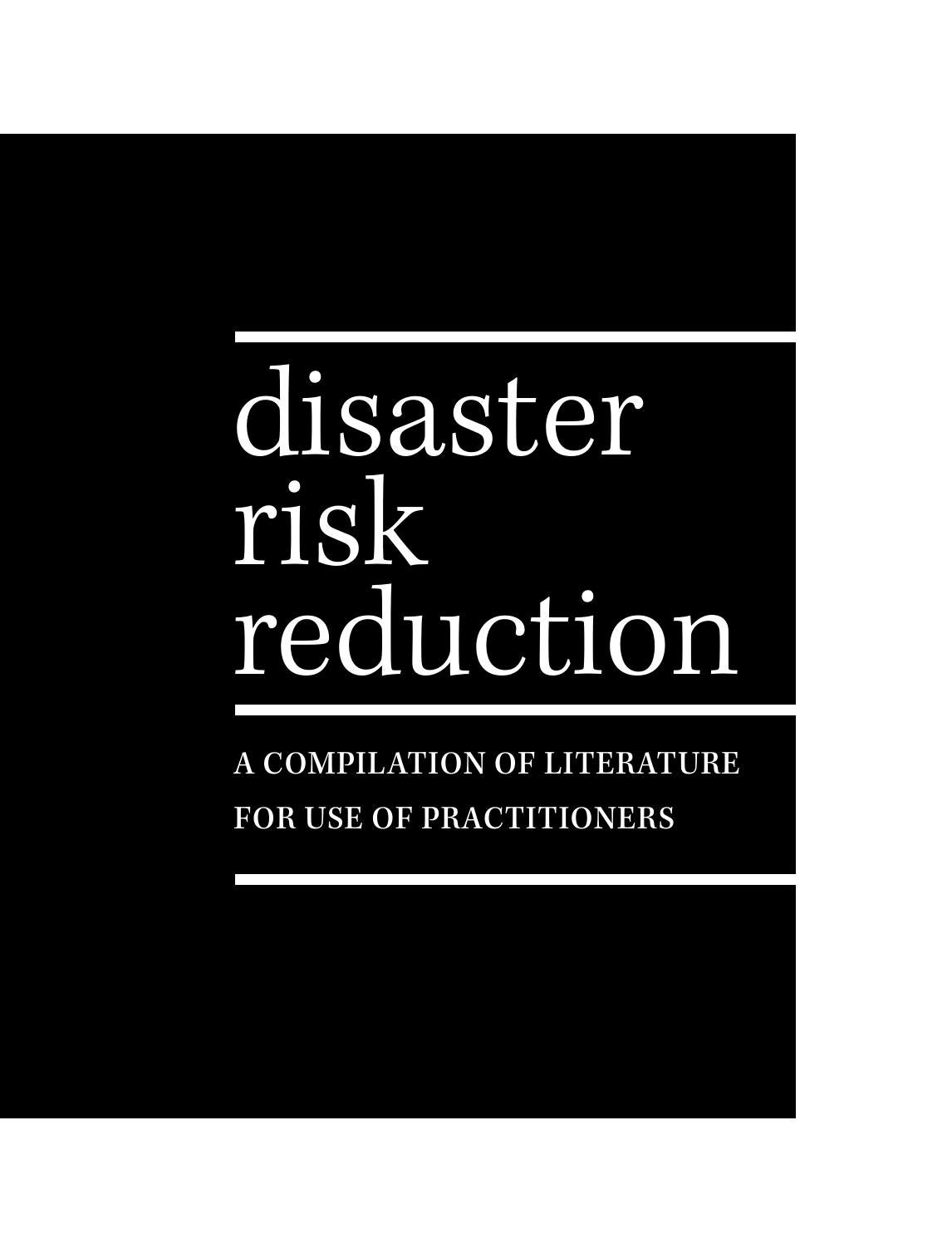 Disaster Risk Reduction: essential readings for practitioners