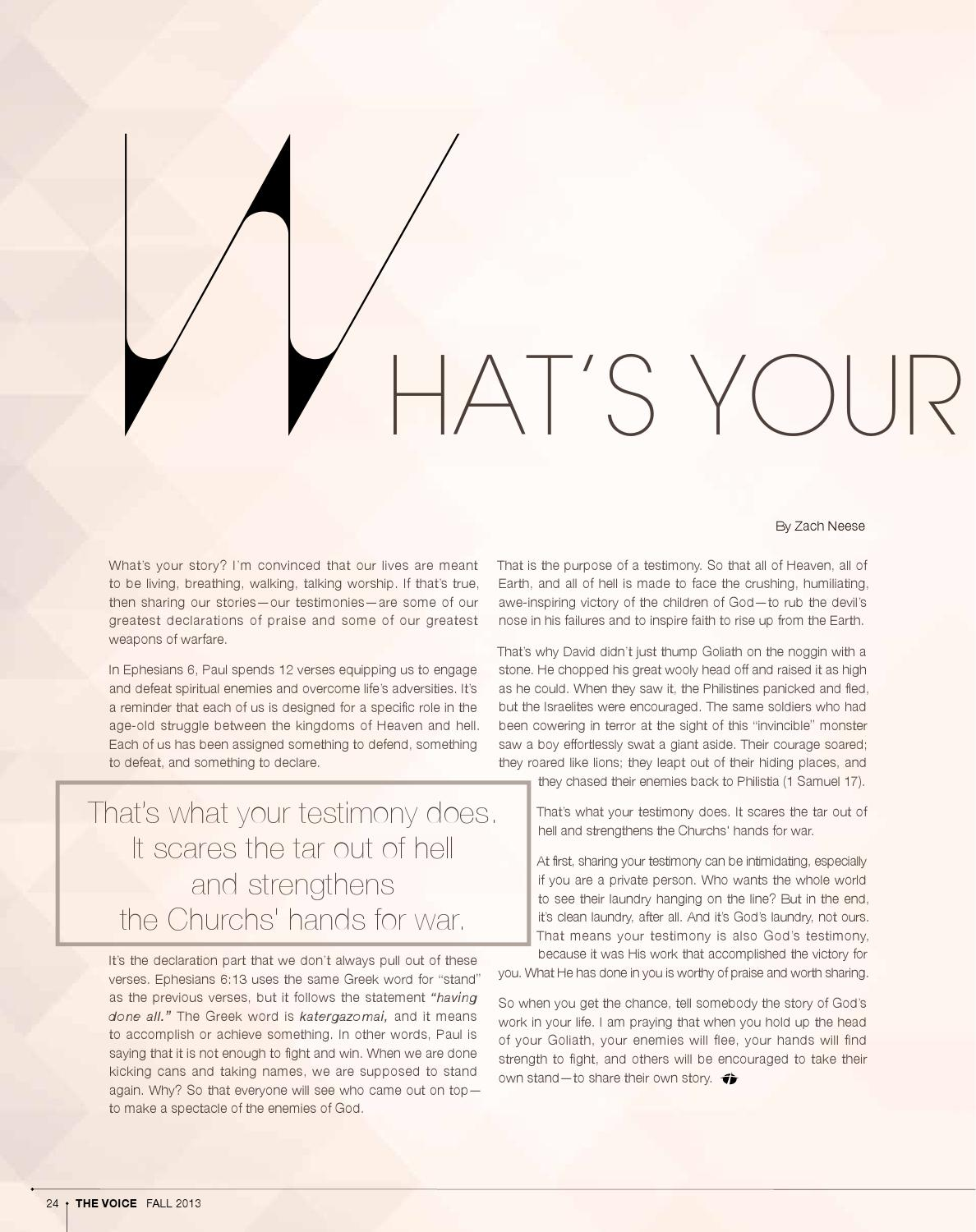 CFN The Voice Magazine: Fall 2013 by Christ For The Nations