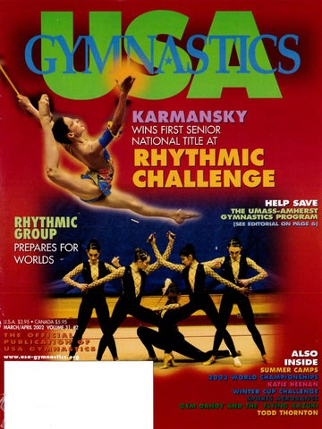 ae3d94a5b524 USA Gymnastics - March April 2002 by USA Gymnastics - issuu