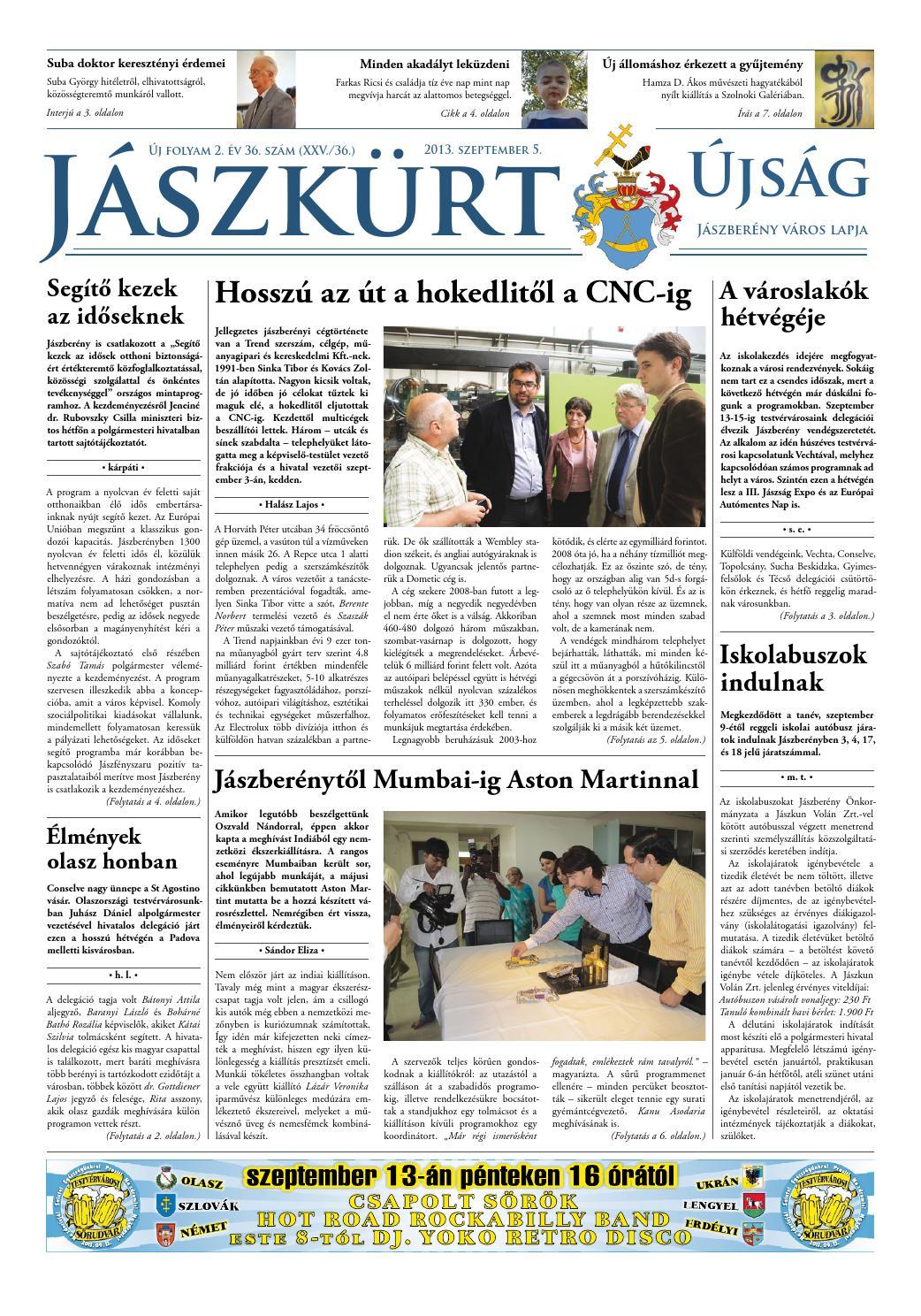 be509cd07882 Új évf. 2. év 36. szám by Jászkürt Újság - issuu