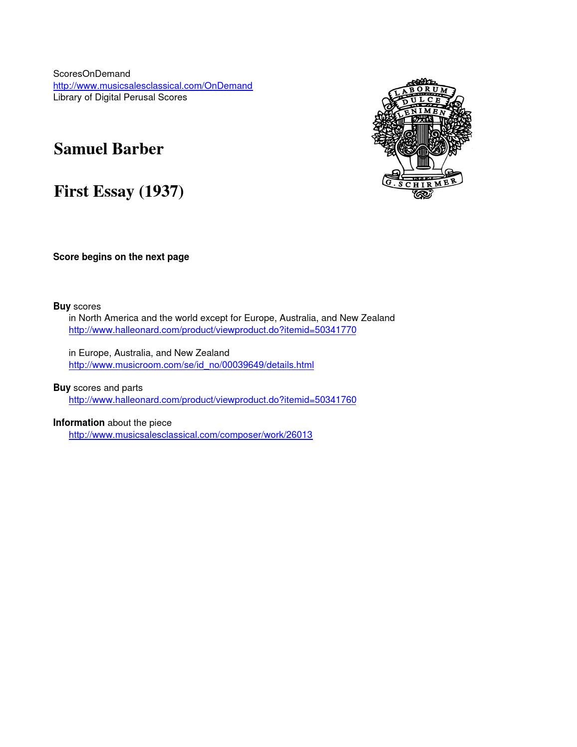 barber first essay by scoresondemand issuu
