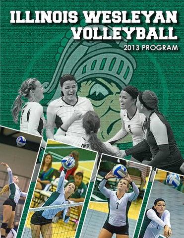 2013 Illinois Wesleyan volleyball brochure by Illinois