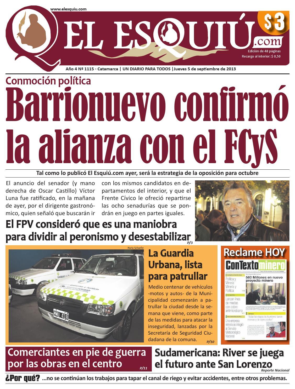 El Esquiu Com Jueves 5 De Septiembre De 2013 By Editorial El  # Muebles Yoma Antofagasta