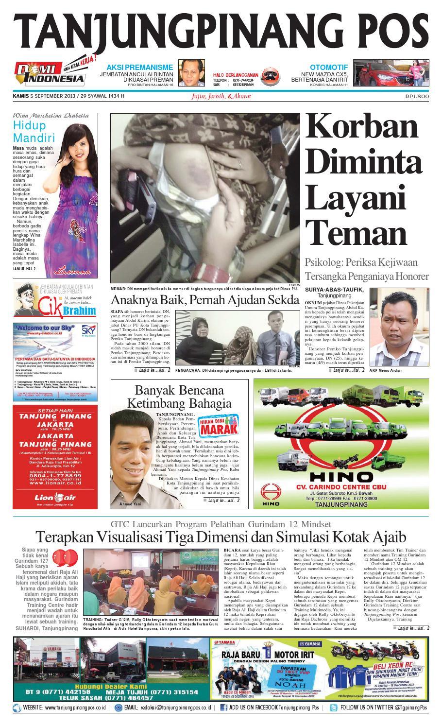 Epaper Tanjungpinangpos 5 September 2013 By Tanjungpinangpos Issuu