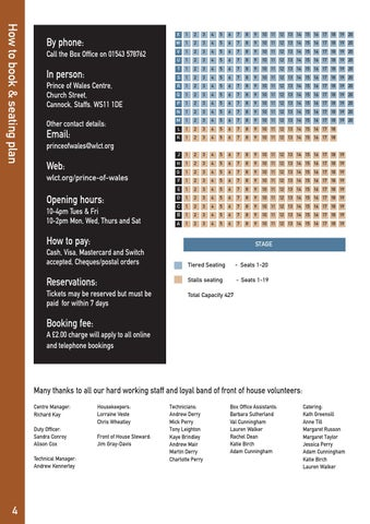 How To Book Seating Plan
