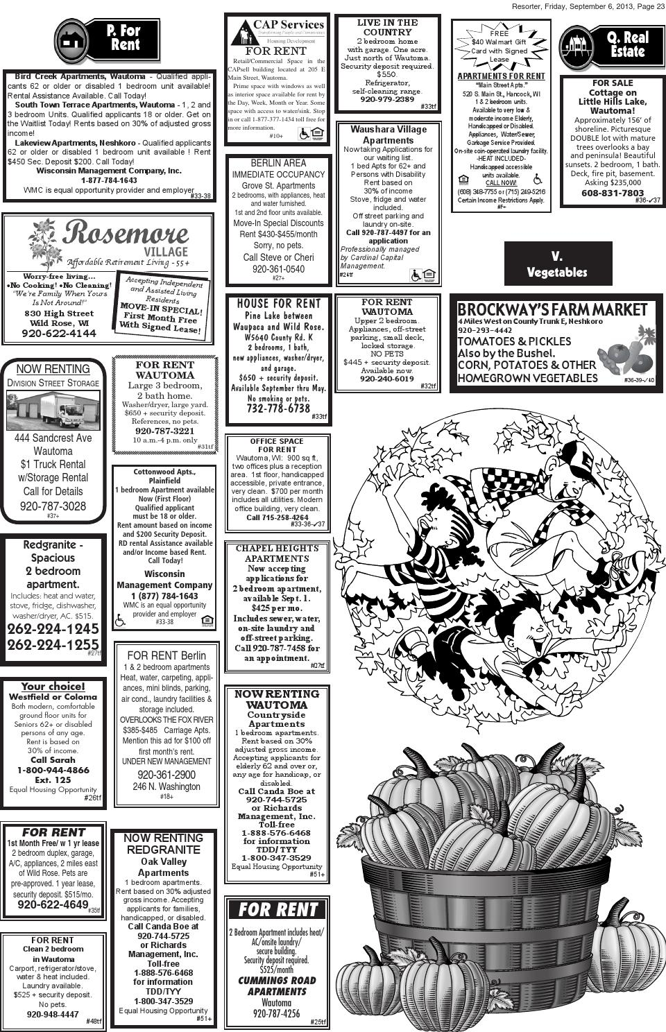 Central Wisconsin Resorter 2013 No  36 by Wautoma Newspapers - issuu