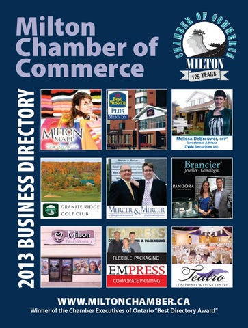 Milton Chamber Of Commerce 2013 Business Directory By Milton Chamber