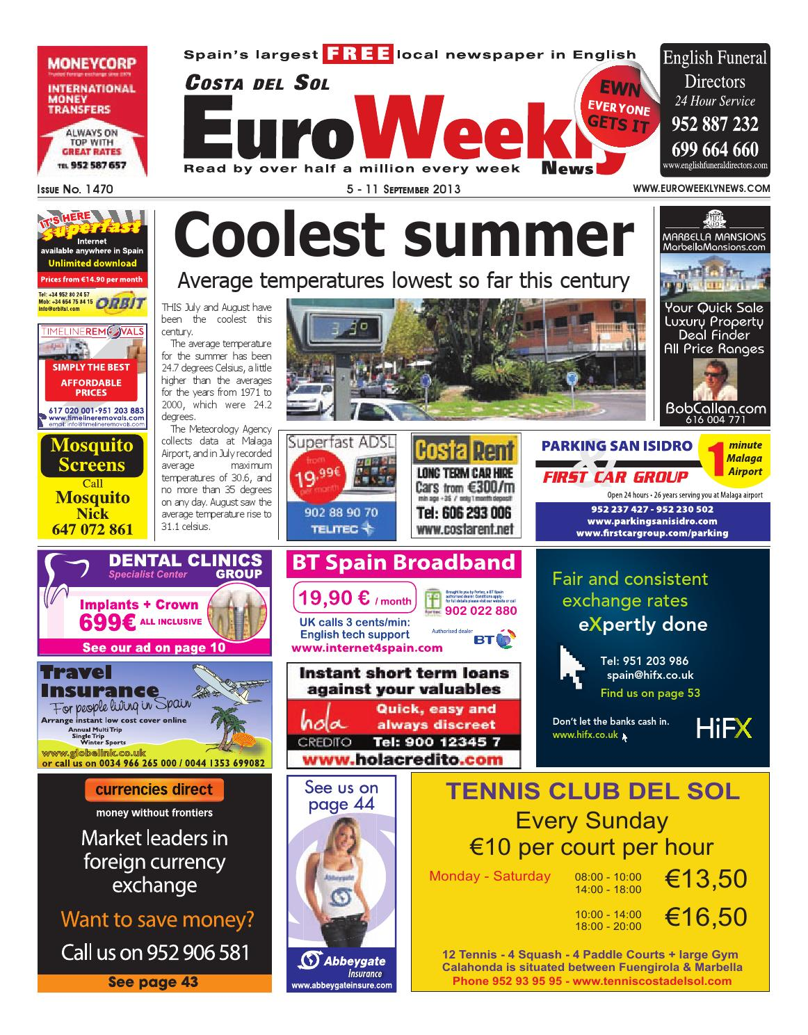 Euro Weekly News Costa Del Sol 5 11 September 2013 Issue 1470  # Muebles Villarreal