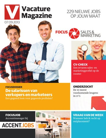 Vacature 07 09 2013 By Jobs Careers Cv Issuu