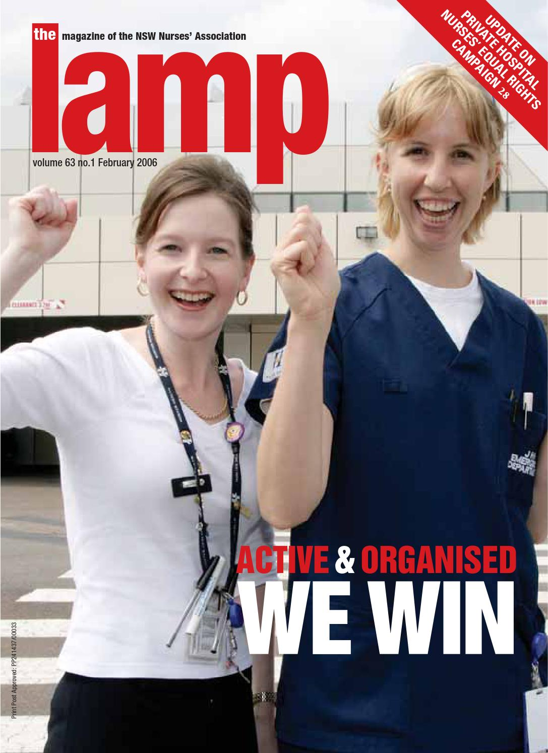 The Lamp February 2006 By Nsw Nurses And Midwives Association Issuu Suggest A Topic To Publish 038 Win 8gb Pen Drive