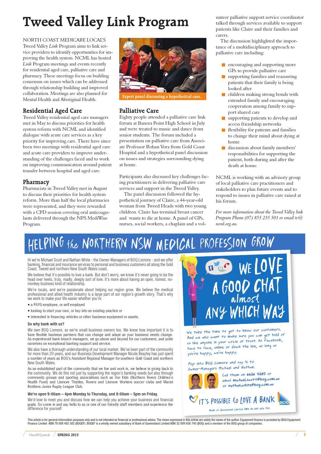 HealthSpeak SPRING 2013 by North Coast Primary Health