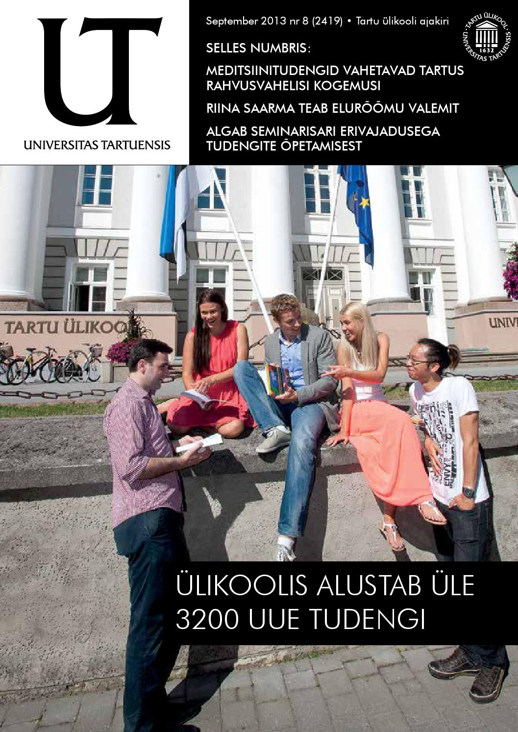 bc53048e4e5 UT september 2013, nr 8 by Universitas Tartuensis - issuu