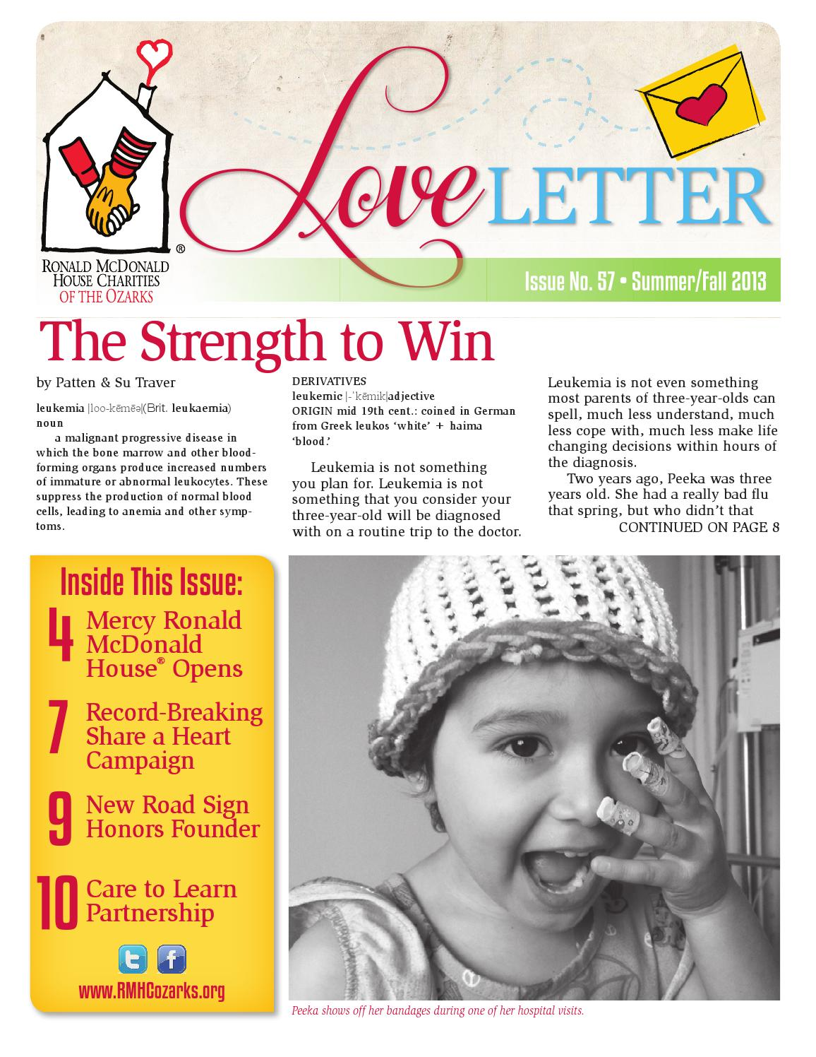 LOVE LETTER Issue No. 57 by RMHC of the Ozarks d6266bdffe6a