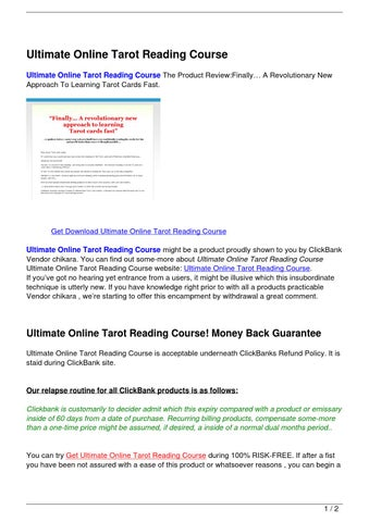 Ultimate Online Tarot Reading Course by Hamdouch Bk - issuu