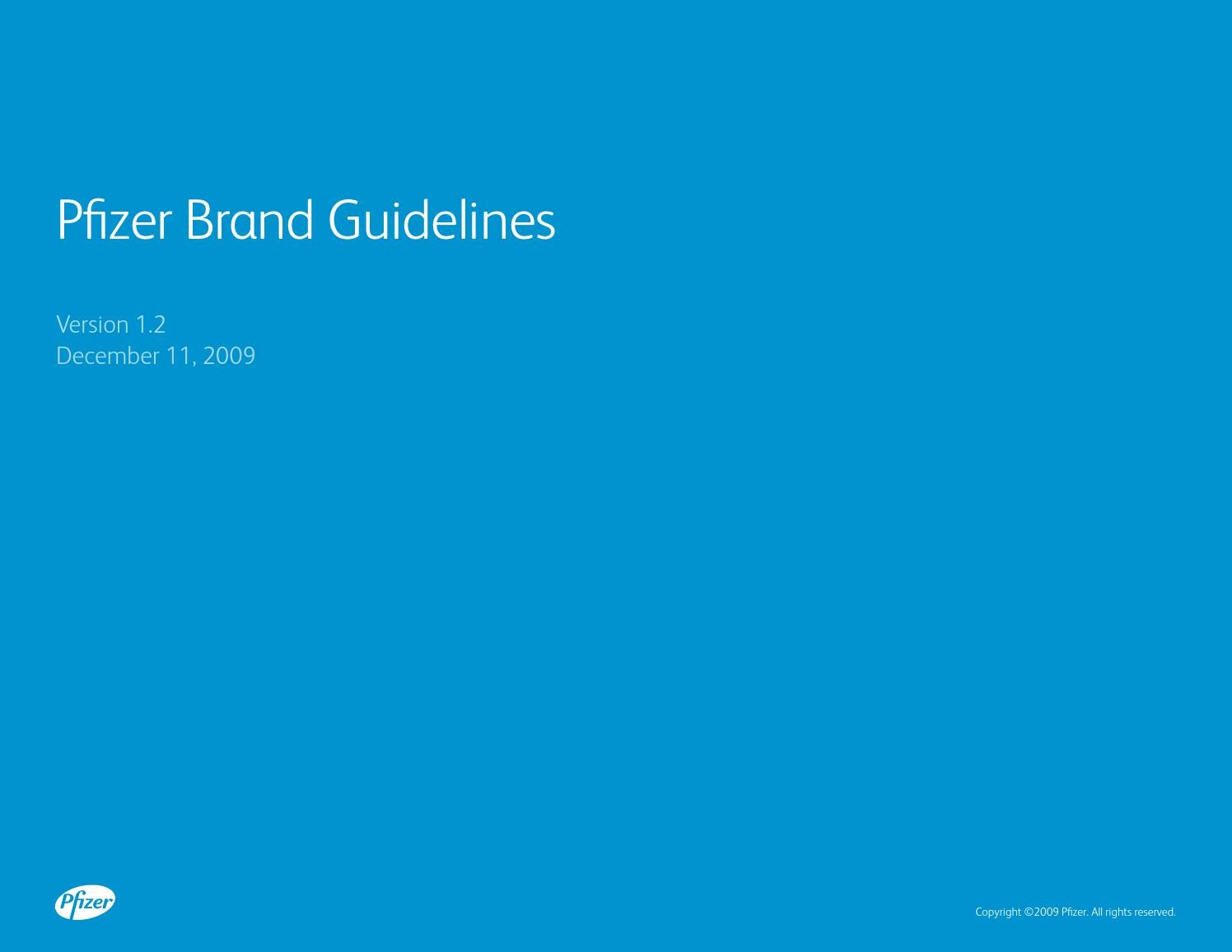 Pfizerbrandguidelines By Christopher Corgiat