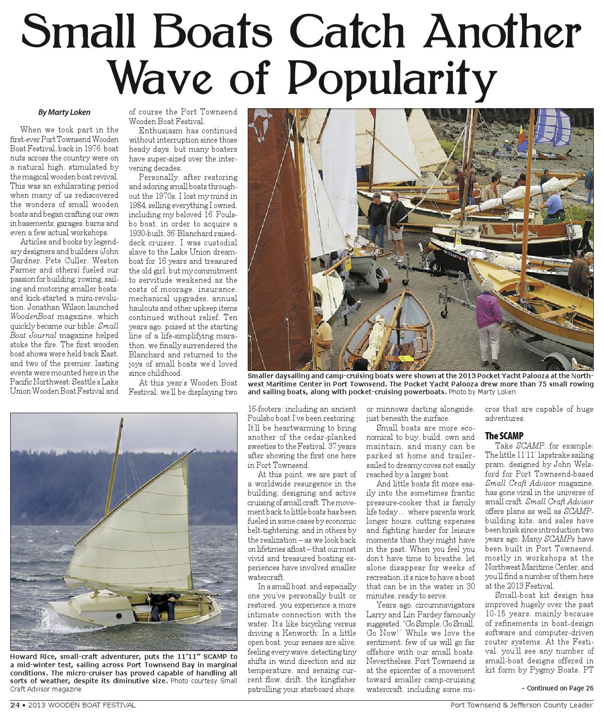 Wooden Boat Festival 2013 by Port Townsend Leader - issuu