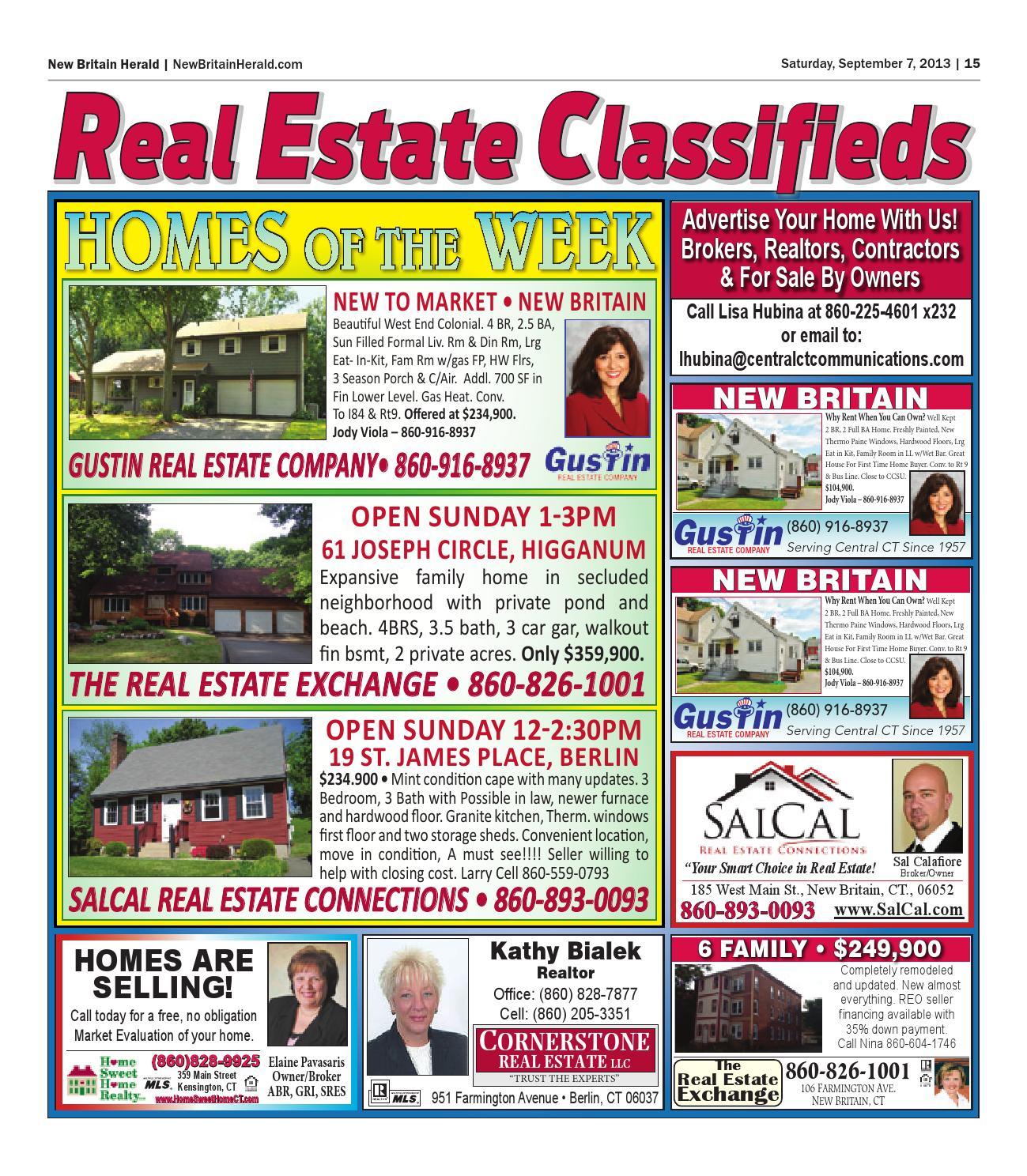 New Britain Herald Bristol Press Real Estate Book By Art