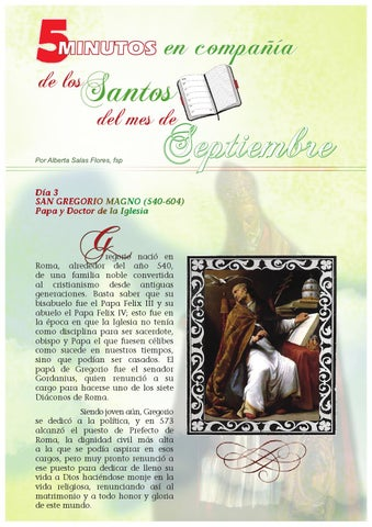 Santos Del Mes Septiembre By Pauline Books And Media Issuu