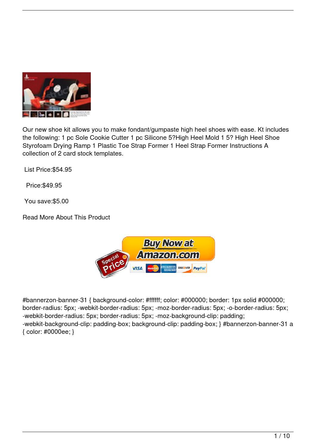 5″ High Heel Shoe Kit for Gumpaste/fondant by dealshopper ...