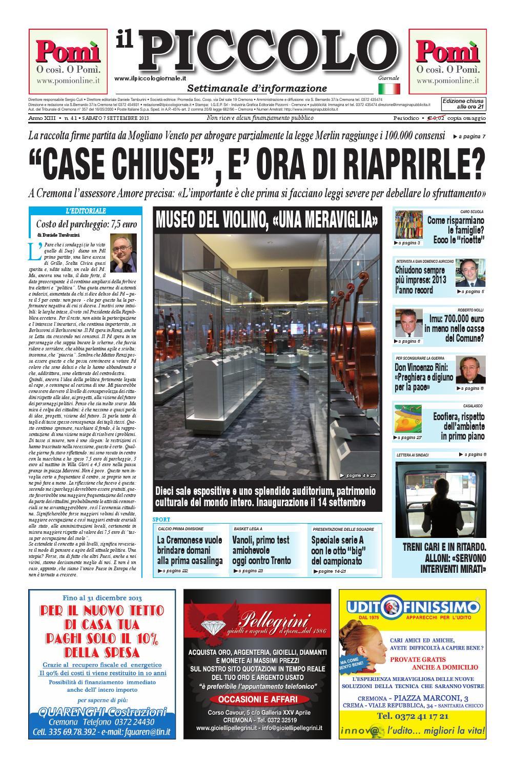 ec607fe603 Il Piccolo Giornale di Cremona del 7 settembre 2013 by promedia promedia -  issuu