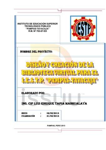 proyecto biblioteca virtual perfil by luis tapia issuu