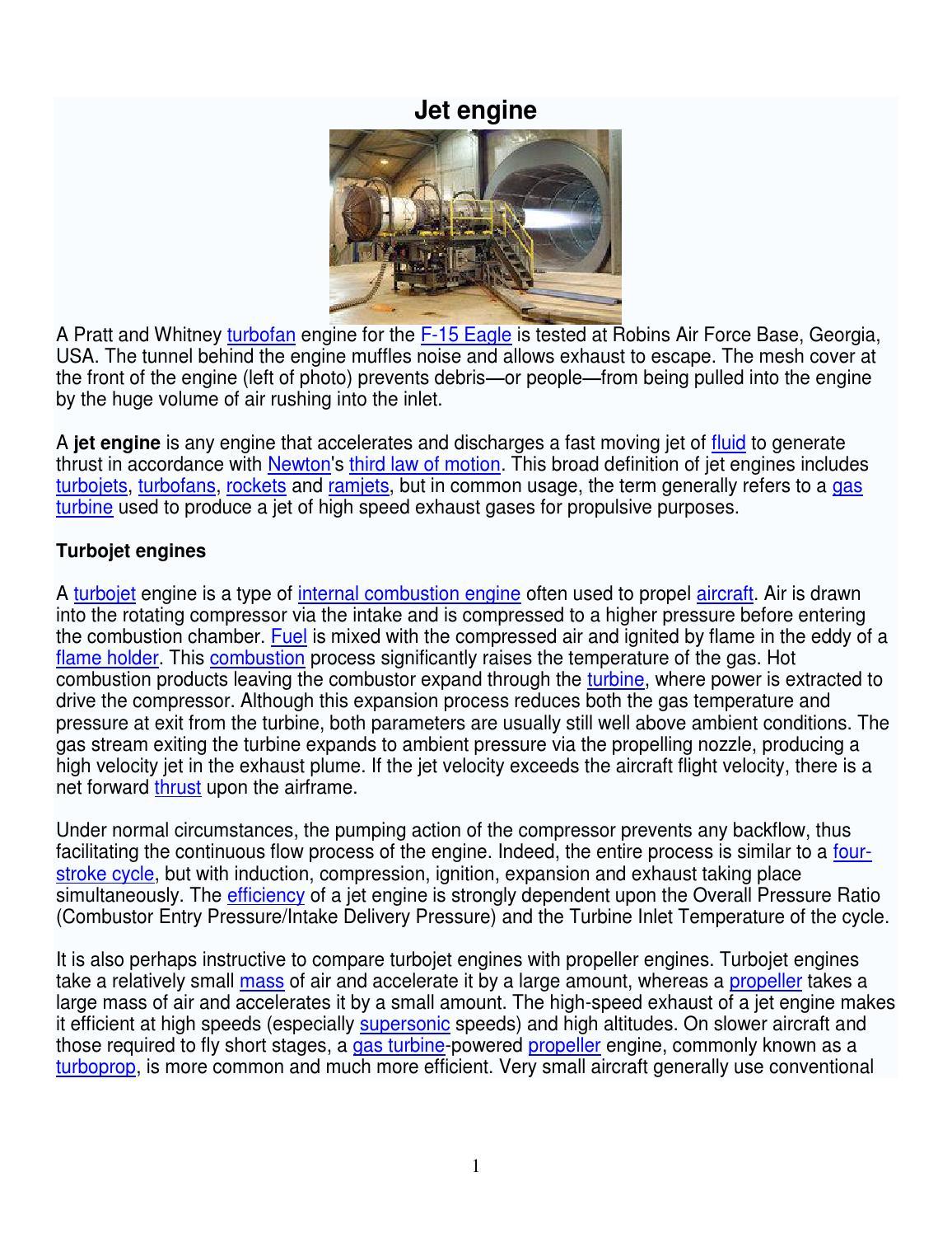 Jet Engine By Princeflyer Issuu 747 Diagram Turbojet
