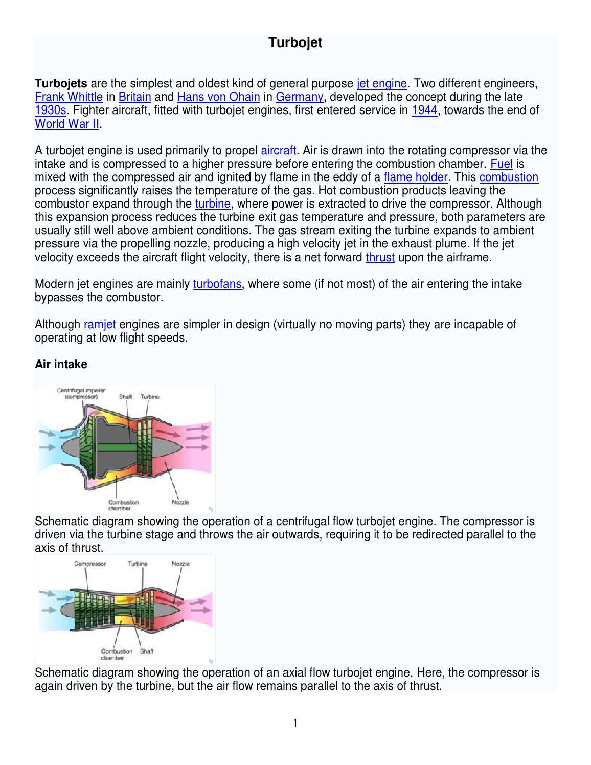 Schematic Diagram Of The Turbine Engine