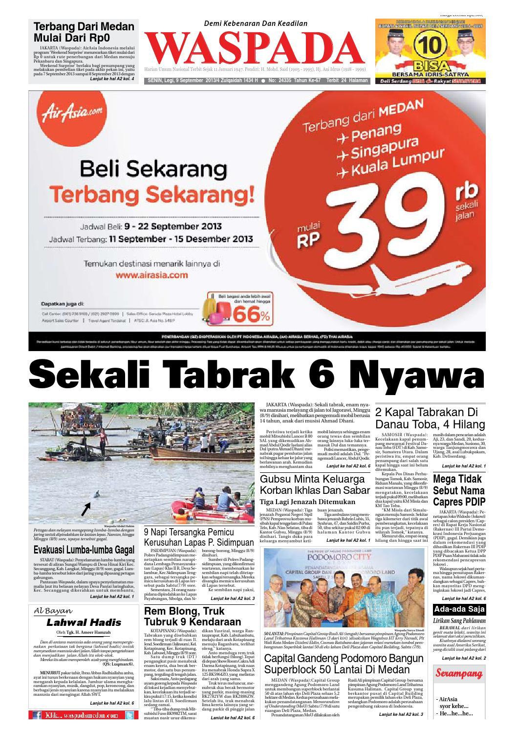 Waspada Senin 9 September 2013 By Harian Waspada Issuu