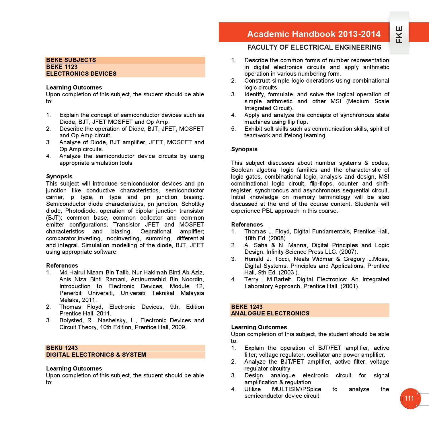 Academic Handbook Fke Utem 2013 2014 By Vincent Loi Issuu Simple Regulator Circuits Jfet