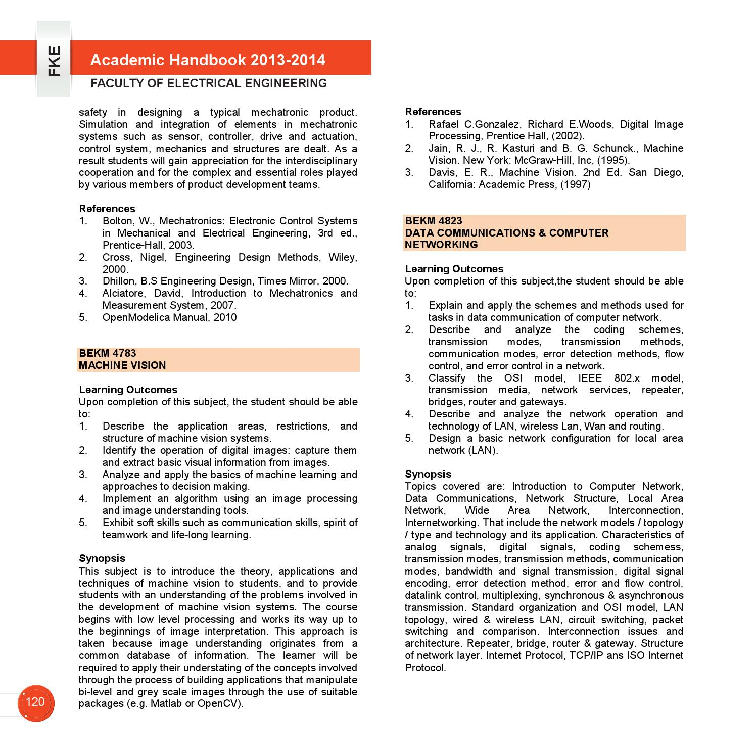 Academic Handbook FKE UTeM 2013/2014 by Vincent Loi - issuu