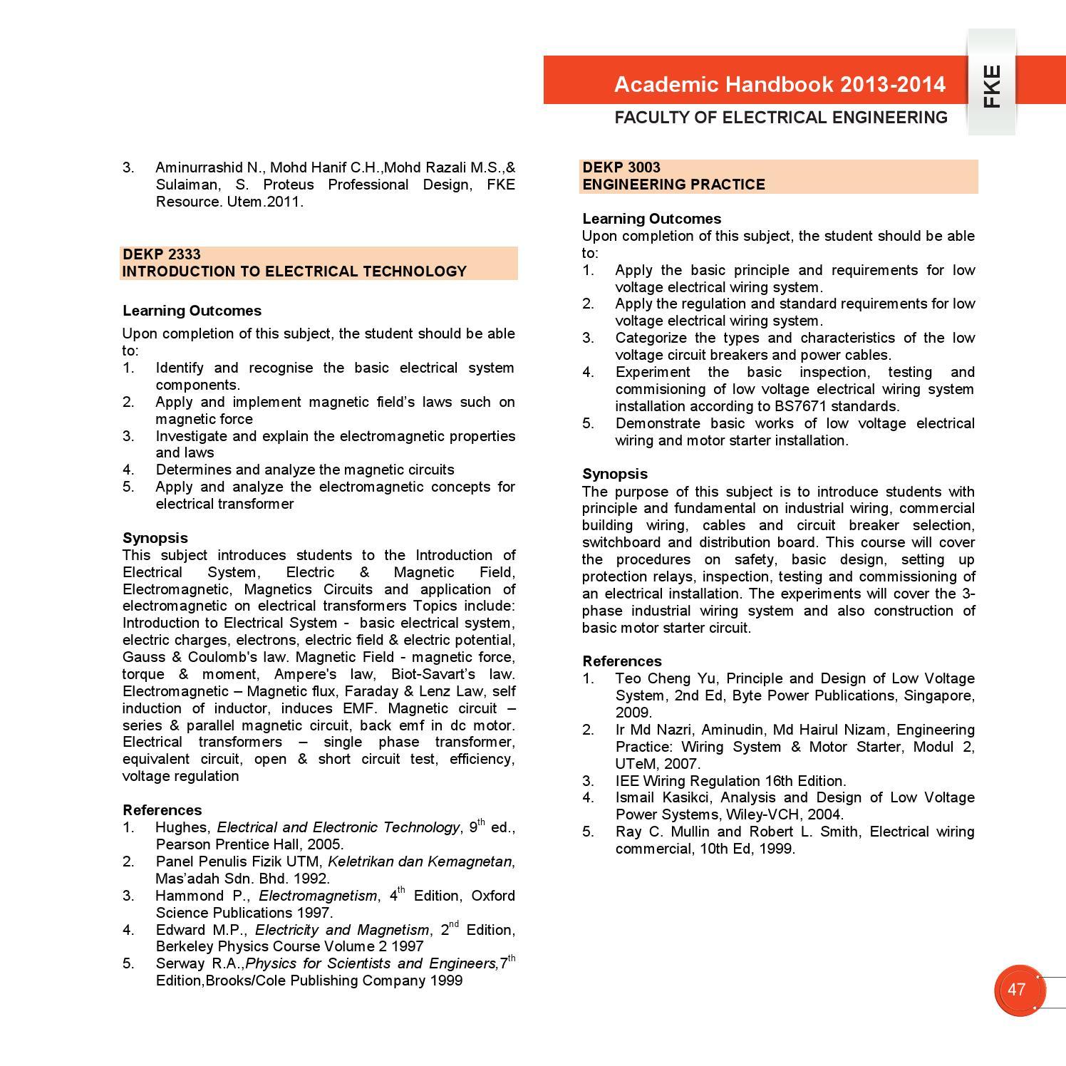 Academic Handbook FKE UTeM 2013/2014 by Vincent Loi - issuu