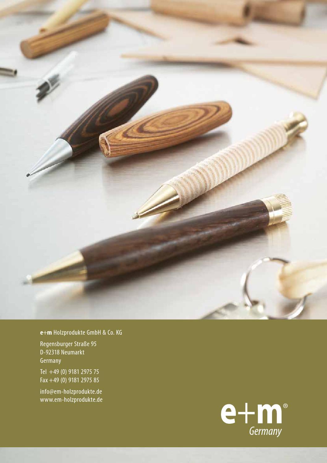 E+M Germany Maximo Wood Pencil Extender GS 25-48 Light Oak